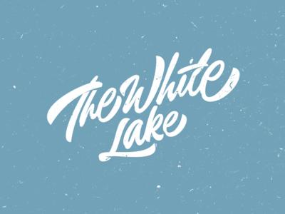 The White Lake custom lettering