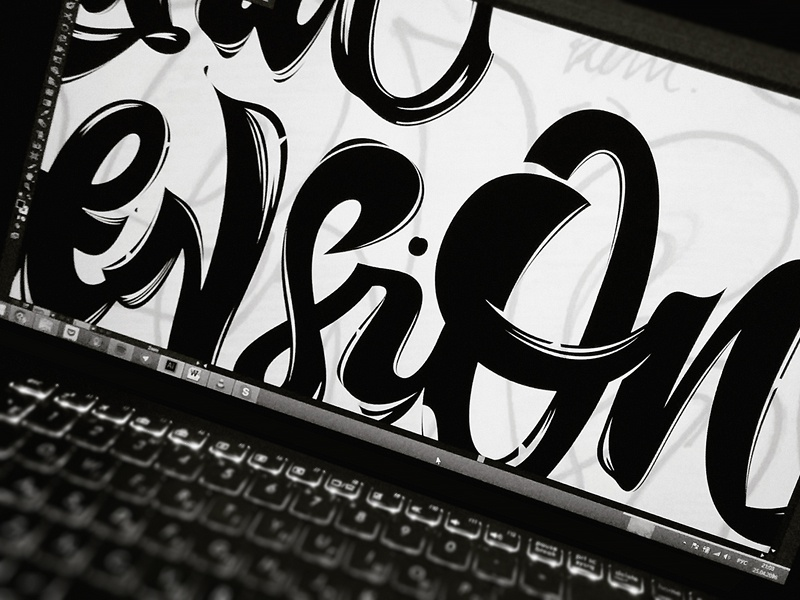 Third Dimension screen screen lettering typography logotype calligraphy