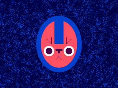 Blink texture vector textures ben stafford geometric character character design cute vector animal creature illustration staring eye contest blink