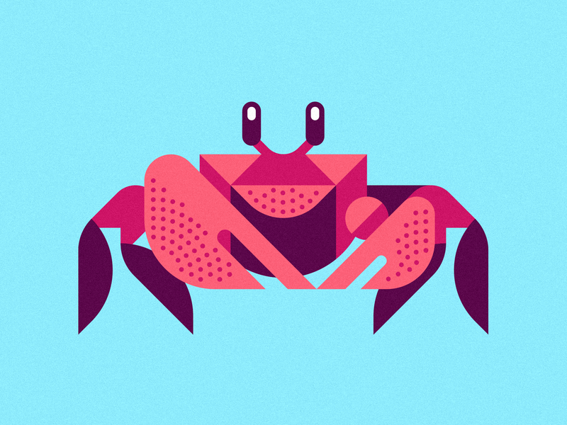 Up for Crabs ben stafford crabby aquatic ocean marine life sea life animal art geometric art geometric illustration crab ghost crab