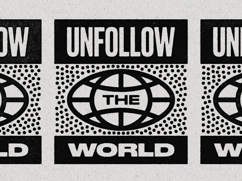 UTW02 ben stafford texture globe typedesign tshirt world script typography type unsubscribe unfollow the world unfollow