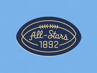 All-Stars 1892 sports logo script patch design football all-stars ebay vintage vintage embroidered patch patch
