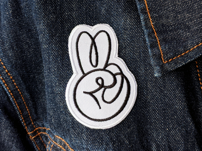 Peace Patch black and white doodle design patch design for sale embroidered patch embroidery patch peace ben stafford illustration