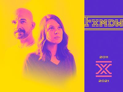 Foxmeadow Turns 10 branding graphic design studio creative foxmeadow fxmdw ten x roman numerals 10 years