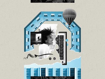 Pliancy - Benefits illustration illustration art illustrations ben stafford collage blog header ripped paper ripped collage art blog post blog design magazine digital