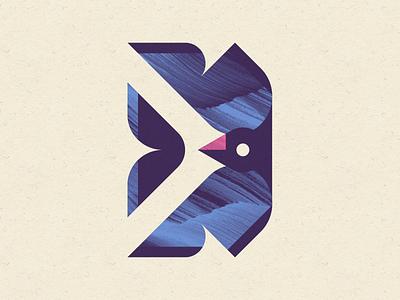 For The Birds aviary birds flipped illustration geometric illustration geometric ben stafford texture bird