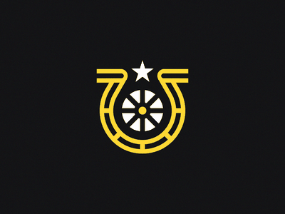 Luck Bike - 20 Minute Logo exercise unfold logo mark logomarks logomark bike horseshoe horse shoe luck lucky bicycle shop bike shop rio brazil design graphic design north star bicycle ben stafford