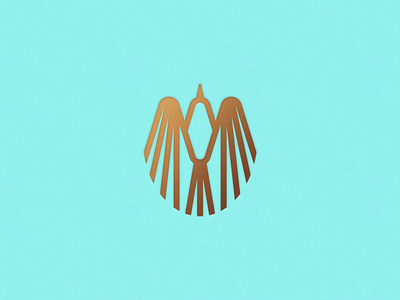 Direct Flight gold foil regal logomark oval wings soar bird design branding mark geometric logo ben stafford illustration