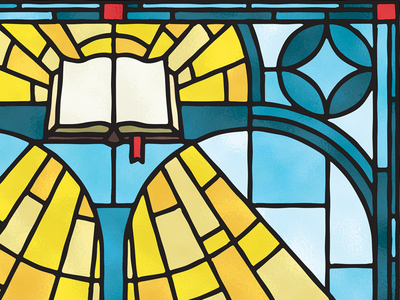 Truth & Light bible stained glass truth light illustration editorial texture magazine editorial illustration christian