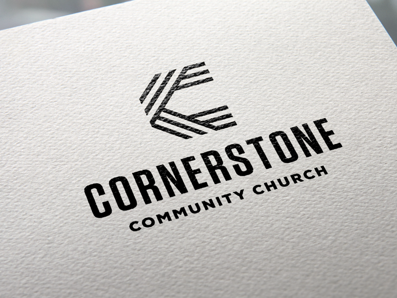 Cornerstone ccc monogram c cornerstone logo community church church logo branding mark
