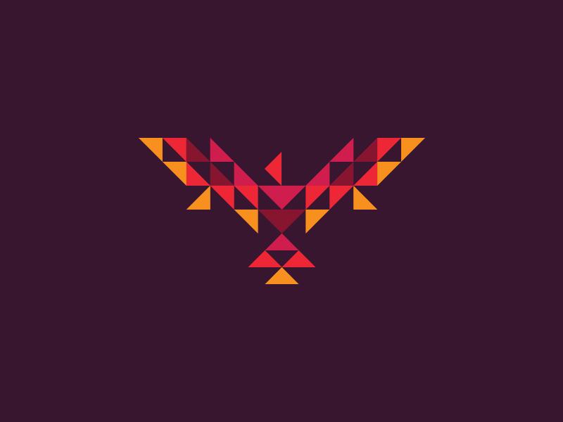 Rise Again phoenix rise again flames ashes triangles geometric illustration ben stafford