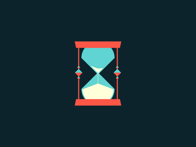 Running Out cbd hourglass hour glass time sand worry anxiety procrastination illustration ben stafford