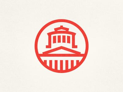 The Statehouse ohio statehouse logo thick lines mark columbus landmark monoline