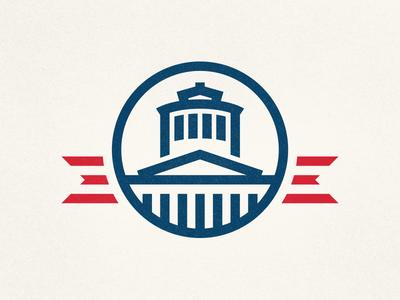 The Statehouse - Revised ohio statehouse logo thick lines mark columbus landmark