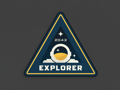 Pluto Expeditions - Explorer illustration astronaut texture nasa space pluto expedition explorer mission patch exploration new horizons ben stafford