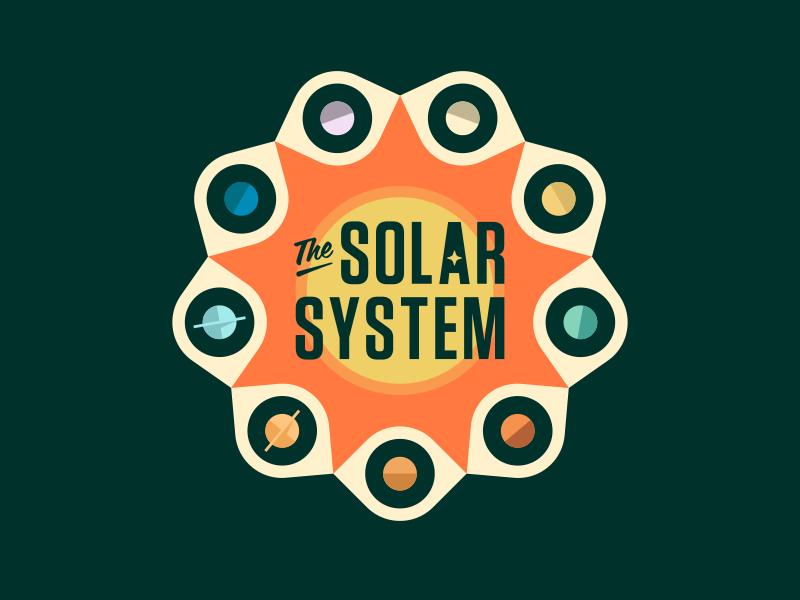 The Solar System new horizons nasa textbook cover retro ben stafford illustration sun pluto exploration space solar system planets