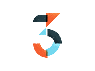 3 Spots Left three numeral number google hangouts creating vector textures illustration geometric 3