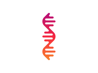 Deoxyribonucleic acid gradient icon biology genetics molecule health medicine technology science dna logo illustration