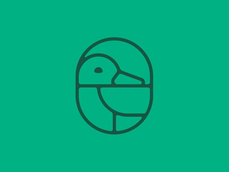 Mallard Publishing line art press books logo publishing mallard duck