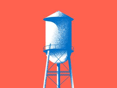 Creative South 2016 Workshop Announcement illustration water tower vector textures workshop creative south georiga columbus
