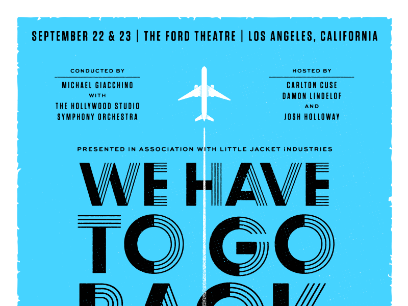 """We Have To Go Back"" Poster - Top tv show conductor hand gig poster vector textures illustration plane orchestra baton concert michael giacchino lost"