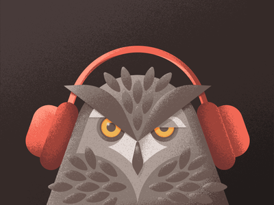 Creative South Podcast - Episode 19 geometric vector textures interview ben stafford podcast creative south headphones illustration owl
