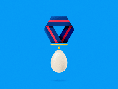 Over Easy Does It vector texture illustration game tradition independence day july 4th picnic family egg toss olympics egg gold medal
