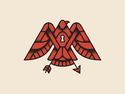The Eagle and the Hawk permanent records hope flight key hole arrow tattoo illustration john denver hawk eagle