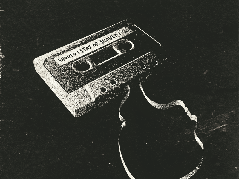 #StrangerThings netflix the clash upside down will byers cassette tape vector textures illustration stephen king duffer brothers book cover stranger things