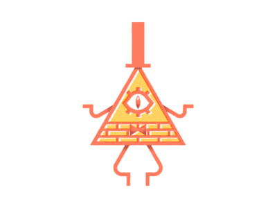 Bill Cipher illuminati vector textures illustration alex hirsch cartoon network mystery shack animated gravity falls bill cipher
