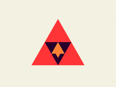 The Cardinal Rule illuminati abstract illustration bird minimalistic geometric triangles triforce cardinal