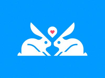 Some Bunnies Adopting adoption announcement geometric illustration children adopting love rabbits bunny bunnies