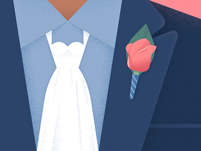 Bridal (Search) Party editorial illustration illustration rose suit missing marriage wife cain boutonniere tie wedding dress