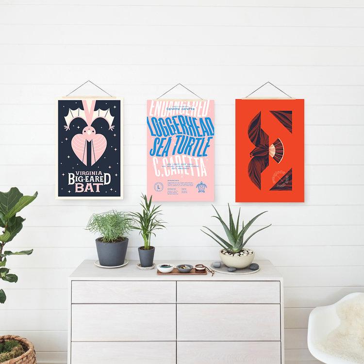 Typehike alphabeast posters