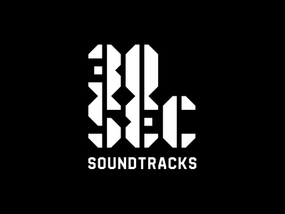 30 Second Soundtracks Logo ben stafford custom lettering stencil type logo cinematic music soundtrack storytelling instagram instacast podcast