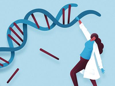 Ctrl+XY editorial illustration scientist embryos morality science gene editing gene splicing crispr