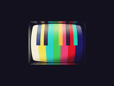 Channel Surfing testing color bars piano illustration television cinematic tv shows music playlist music supervisor channel surfing