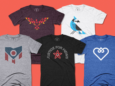 ALL THE TEES tshirt design ben stafford ohio stranger things adoption phoenix blue jay cotton bureau