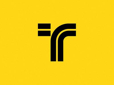 Turn Right Logo car geometric simple monogram logo tr turn