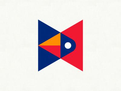 The Cardinal Rule II triforce triangles minimalistic illustration geometric cardinal bird abstract illuminati