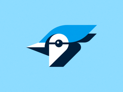 Blue Jay Way shapes illustration geometric cyanocitta cristata cyan blue jay bluejay bird ben stafford