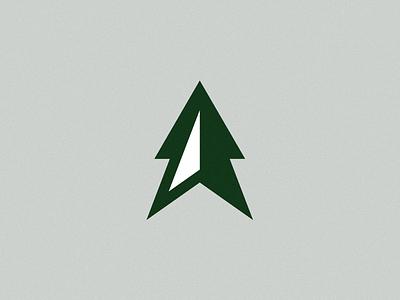 HT Logo pine tree hiking brand adventure point north compass arrow tree ben stafford logo