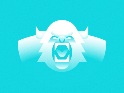 Angry Eddie yeti geometric abominable snowman creature folklore illustration crypitd legend myth