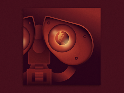 WALL•E earth ben stafford vector gradients illustration pixar disney wall e walle