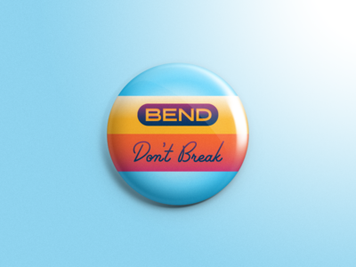 Inch X Inch - Bend Don't Break no 2 bend dont break pencil art education collaboration positive message inspire one-inch buttons 1 inch x inch