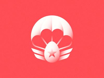 Eggborne Infantry usa emblem patch organic july 4th independence day illustration parachute egg toss egg american
