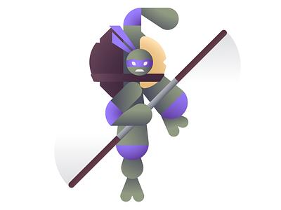 Does Machines cowabunga ooze teenage mutant ninja turtles tmnt ninja donnie donatello geometric illustration ben stafford