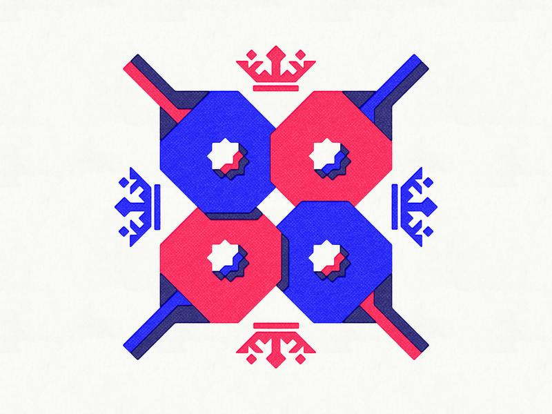 King of Pong ben stafford print geometric sharp table tennis crown king illustration ping pong