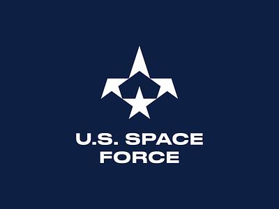 Space Force Logo mark u.s.a. shuttle eagle stars star military united state of america space force space logo