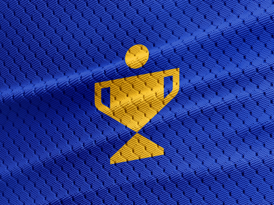 Champions focus lab gold logomark mark logo win winning superhero trophy empowerment youth sports leagues sports